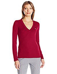 New Lacoste Women's Long Sleeve Cotton Jersey Veneck Tee Shirt online. Find the perfect Umgee Tops-Tees from top store. Sku JOVA50794MPRG84472