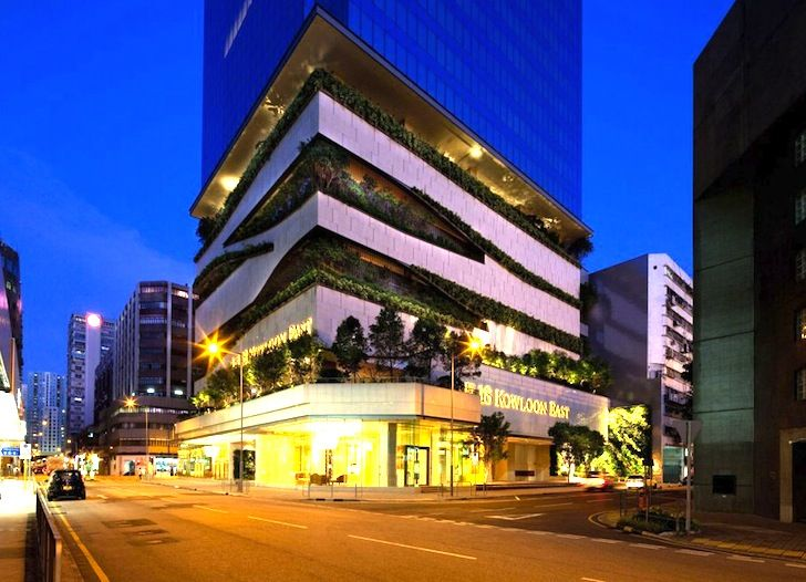 Lovely Extraordinary 28 Storey Kowloon Office Tower In China Has A Bushy  Greenery Lined Carpark! Design Inspirations