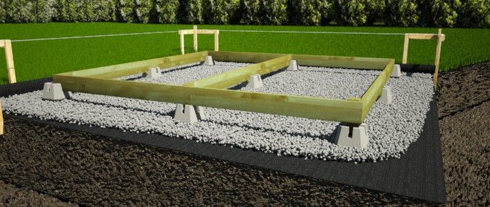 How To Build A Shed Foundation With Deck Blocks Concrete Deck Blocks Building A Shed Concrete Deck