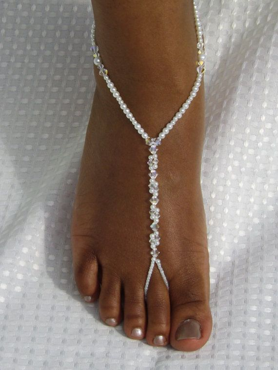 beach wedding barefoot sandals foot jewelry by subtleexpressions 3200