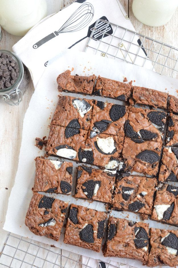 One-Bowl Oreo Brownies that'll make clean-up a no-brainer. | 14 Lazy Valentine's Day Desserts That'll Impress Anyone