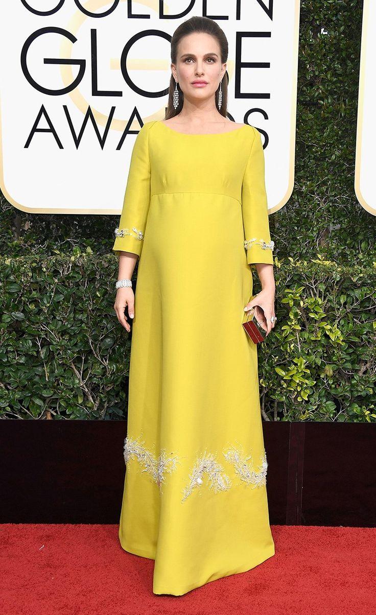 Натали Портман в Prada, украшения Tiffany & Co. на церемонии вручения наград премии «Золотой глобус» в Лос-Анджелесе, 08 января 2017 г.