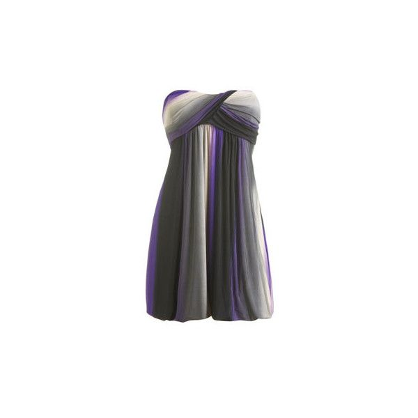 Ombre Bubble Tube Dress - Women's Clothing and Apparel - Chic Dresses,... ($25) ❤ liked on Polyvore