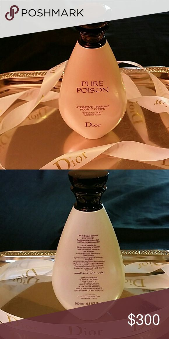VERY RARE FIND DIOR PURE POISONBODY LOTION EXTREMELY RARE FIND DISCONTINUED  ⭐⭐NOT FOUND IN STORES⭐BOUTIQUES⭐ OR ONLINE⭐⭐⭐  DIOR PURE POISON PERFUMED BODY MOISTURIZER.                 TREAT YOUR INNER DIVA TO THIS LUXURIOUS  MOISTURIZER PURE YET MYSTERIOUS SCENTED  LAYERING IS KEY TO KEEPING YOUR PERFUME ALL DAY AND NIGHT!! BRAND NEW 6.8OZ LUXURIOUS LOTION  FROM MY PRIVATE STOCK  FREE GIFTWITH DIOR PURCHASE DIOR Other