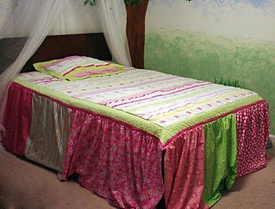 how to make a full size bedspread from a twin size quilt