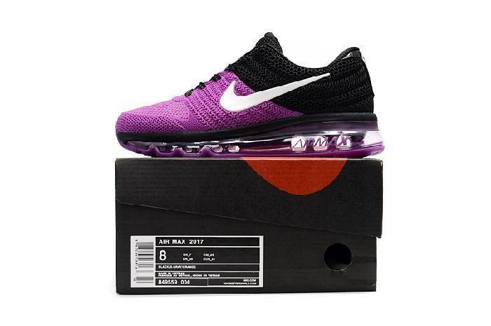 Best Seller Nike Air Max 2017 Purple Black for Women Factory Get - $69.88