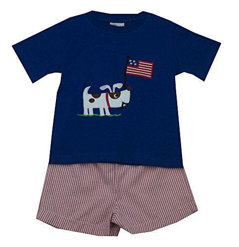Mulberry Street Royal Flag Short Set-Baby/Toddler Boy