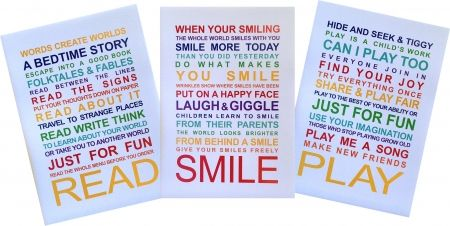 #Playroom rules A3 unframed posters (set of 3) #hardtofind.