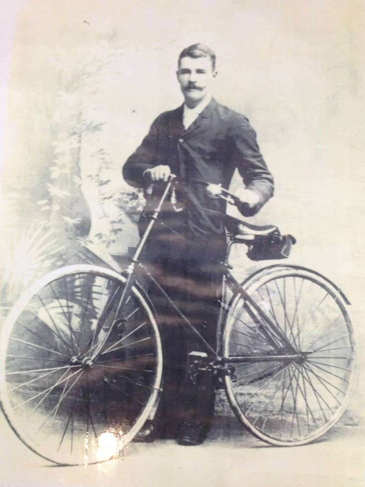 New Zealand first bicycle was built in Lawrence in 1893. In 1893 Patrick O'Leary age 20 an employee of Matthews and Chalmers Blacksmiths, made by hand the handsome two-wheeler bicycle. He not only made the bicycle but also the tools needs for construction, turning the bike out completely, except for the rubber tyres and driving chains. Soon after building the bicycle, Mr. O'Leary taught the postmistress of Lawrence to ride down Lawrence main street, Ross Place.