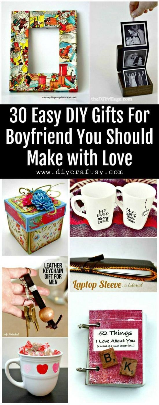 30 Easy DIY Gifts For Boyfriend You Should Make with Love – DIY & Crafts #diycuttingboard