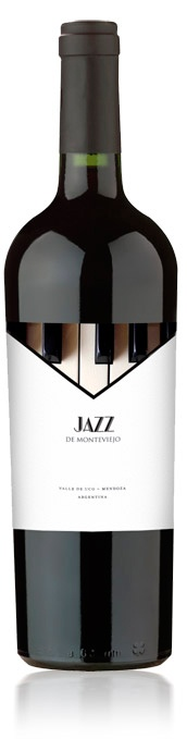 Diseño Etiqueta de Vino / Wine label Design  BODEGA MONTEVIEJO - JAZZ