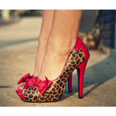 Red Cheetah Heels