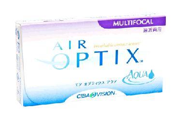 Air Optix Aqua Multifocal (Caja con 6 Lentes de Contacto) - Lentematic.  Los lentes de contacto Air Optix Multifocal de CIBA Vision permiten el flujo de oxígeno a tus ojos hasta 5 veces mas que los lentes de contacto tradicionales. Ya sea que necesitas leer, manejar o trabajaren la computadora, puedes disfrutar de una visión nítida y clara con los lentes de contacto Air Optix Aqua Multifocal incluso si te aproximas a los 40 o más.