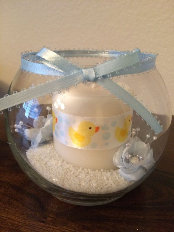 Boy Baby Shower /Rubber Ducky Candle/ Glass Bowl Centerpiece/Baby Shower Favor/ Baby Shower Candle/Baby Boy Decoration/Rubber Ducky Favors