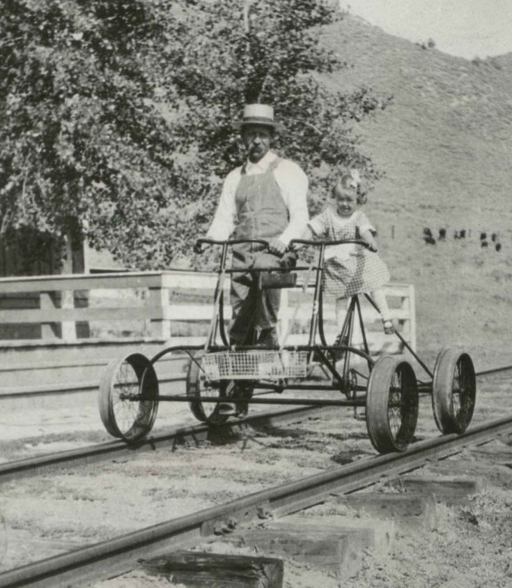 A hartley teeter track inspection pedicycle