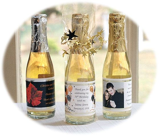 personalized mini wine bottle favors wedding reception ideas pin