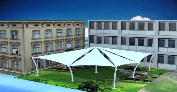 Shipra Enterprises is a manufacturer, service provider, trader and supplier of wide array of Tensile Structure. We offers wide range of Tensile Membrane Structure, Tensile Umbrella, Tensile Canopy, Tensile Gazebo, Tensile Conical, Space Frame, Car Parking Shed, Tensile Walkway, industrial shade manufacturers, polycarbonate structures, steel fabrication manufacturers, Skylight Tensile Structure, Swimming Pool Roofing and Covering Service and Tensile Skylight Roofing Service.