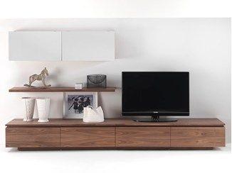 Parete attrezzata componibile in legno su misura SIPARIO 2011 - Riva 1920