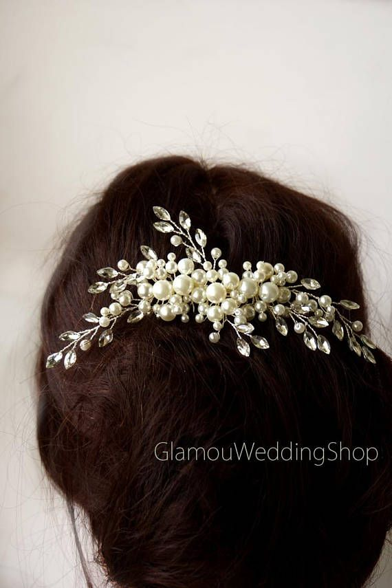 Fall Bridal Hair Accessories -- #ad -- Sale - Ivory Wedding Hair Comb Silver Hair Comb Br…