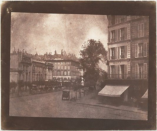 William Henry Fox Talbot, (British, 1800–1877). The Boulevards at Paris, May-June 1843. The Metropolitan Museum of Art, New York. Gilman Collection, Purchase, The Horace W. Goldsmith Foundation Gift, through Joyce and Robert Menschel, 2005 (2005.100.609) #paris