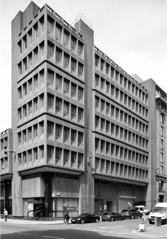 brutalist. This is the style of the older buildings at UTD!