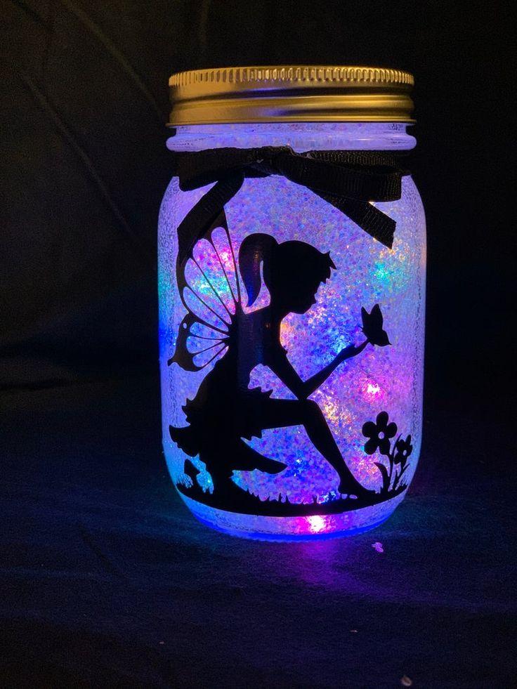 Lighted fairy mason jars in 2020 fairy mason jars fairy