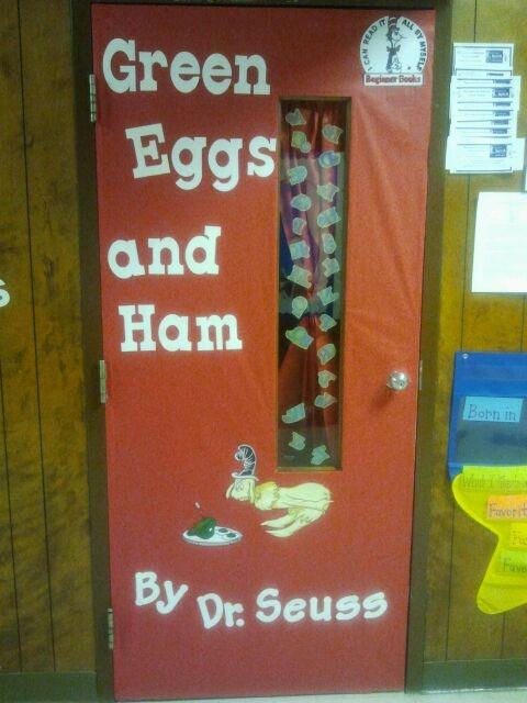 Green Eggs and Ham book cover | School Door Decorations ...