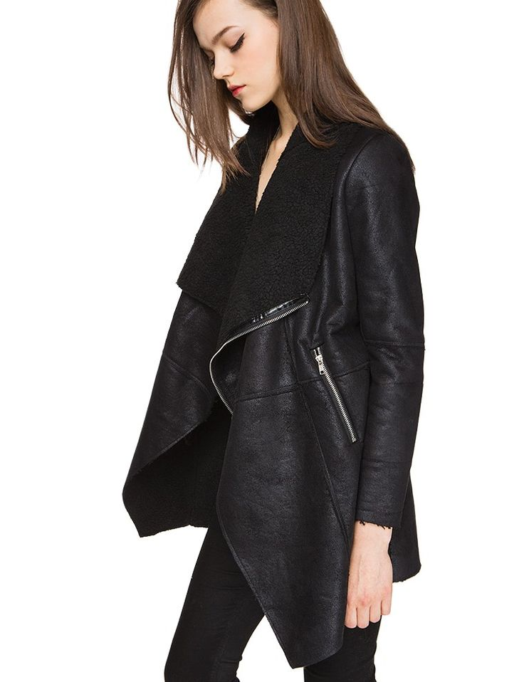 1000  ideas about Black Shearling Jacket on Pinterest | Shearling