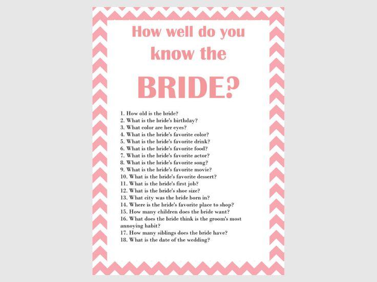 Flamingo Pink Chevron Bridal Shower Games, Unique Bridal Shower Games, Bachelorette Games, Teal Wedding Shower Games