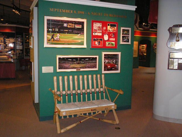 St. Louis Cardinals Hall of Fame bench