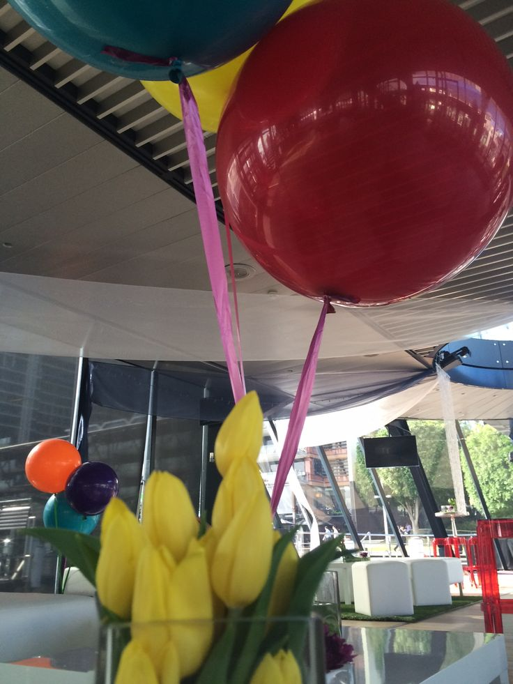 Bright Flowers and Bright Balloons http://www.bespokesocial.com.au/ http://www.starshipsydney.com.au/