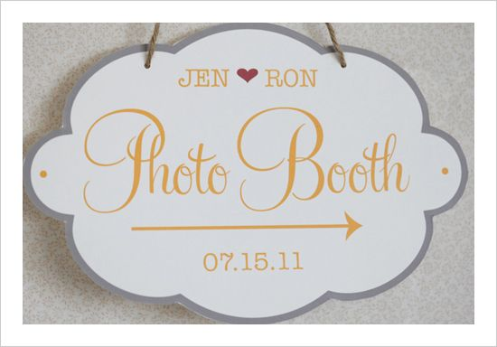 Custom Photobooth Sign