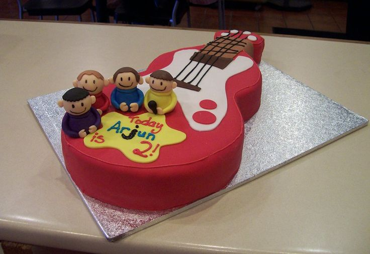 The Wiggles Guitar Cake by ~h0p31355 on deviantART. B wants a wiggles cake for his next birthday