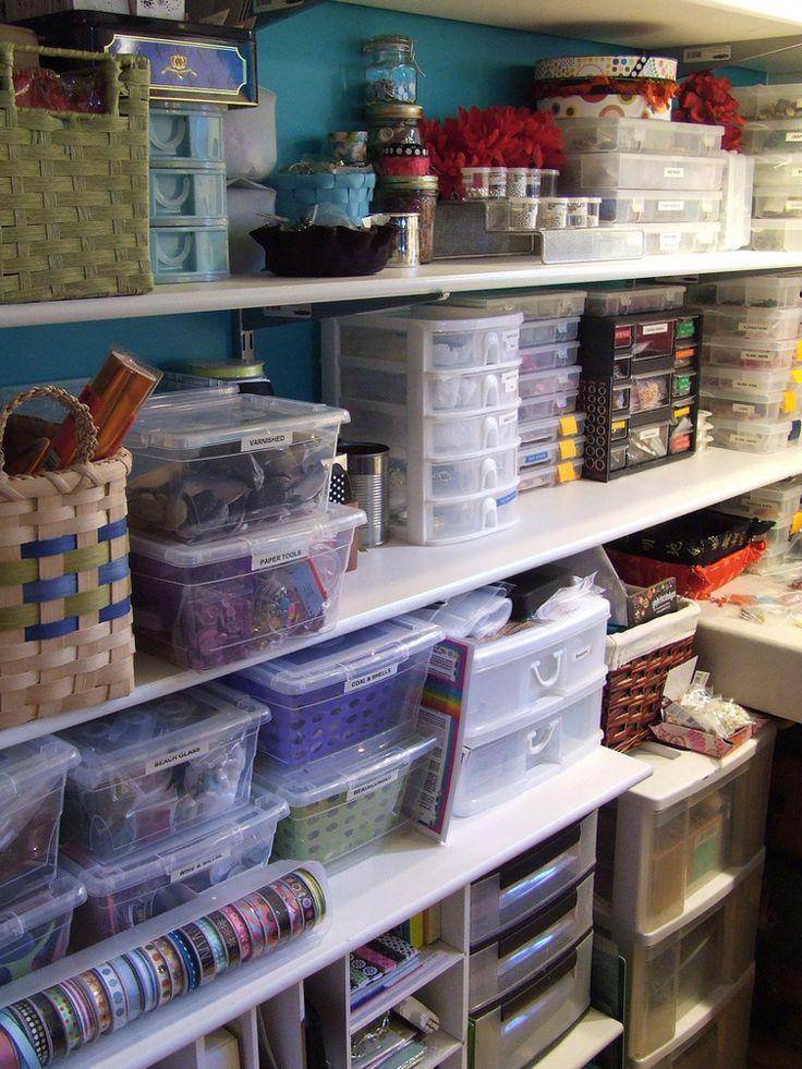 Great storage for jewelry making supplies or for embroidery, crochet, knitting, etc. ❤️KnittingGuru http://www.pinterest.com/KnittingGuru