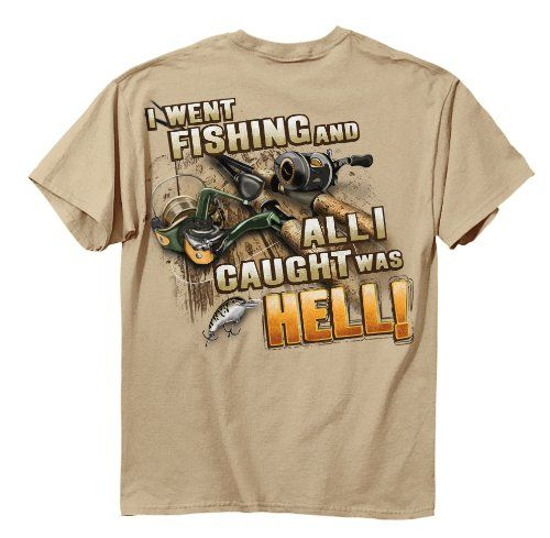 Buck wear caught hell short sleeve tee sand putty large for Two bucks t shirts