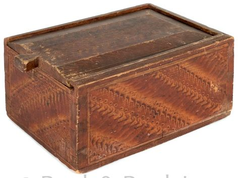IMAGE: Pennsylvania Painted Hard Pine Slide Lid Candle Box, Early 19th  Century, Retaining. Antique Wooden ...