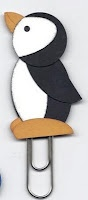 Penguin bookmark punch art kit - comes with full instructions all pieces and clip. You just need glue. $4 to order email kyliebertucci@hotmail.com Great kids craft activity or fundraiser for your school or kinder.