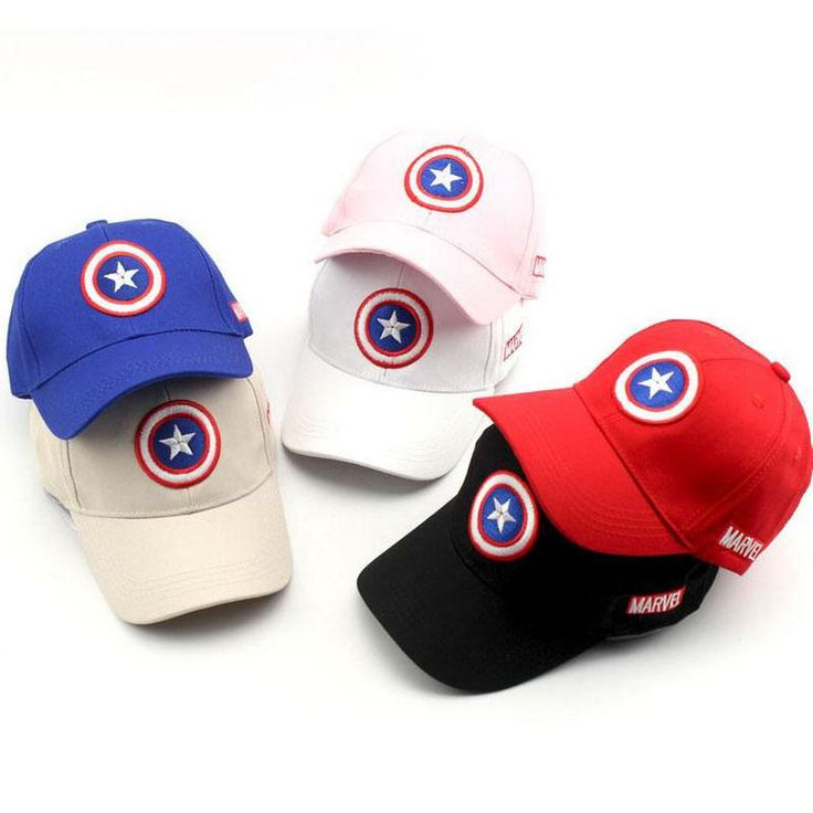 [Visit to Buy] 2017 New Captain America Children Hip Hop Solid Baseball Cap Summer kids Sun Hat Boys Girls snapback Caps 2-8 years #Advertisement