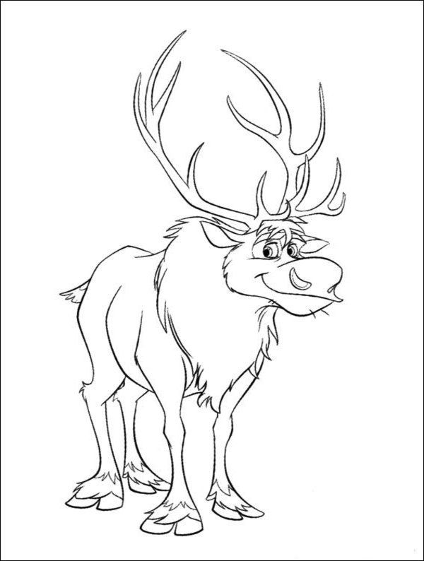 frozen coloring pages sven kristoff - photo#25