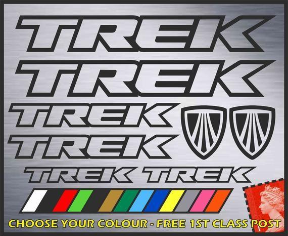 Trek Vinyl Decals Stickers MTB Road Cycling Bike FREE 1ST CLASS POSTAGE
