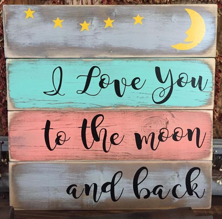 Sam Moon Home Decor: I Love You To The Moon And Back Sign Prim Wood Plaque Wall