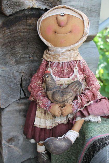 Коллекционные куклы ручной работы. Ярмарка Мастеров - ручная работа. Купить Курочка Ряба. Handmade. Комбинированный, интерьерная кукла, ткань