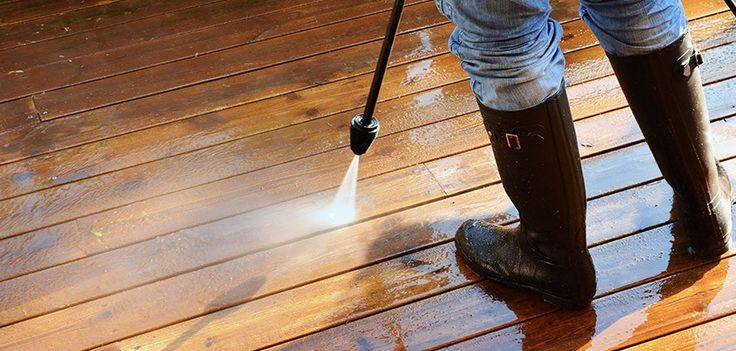 Power Washing Is The Fastest Way To Clean A Wood Deck And
