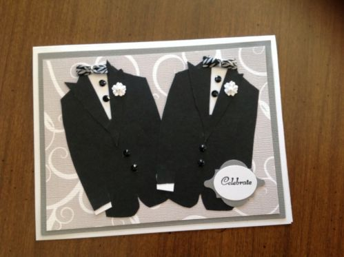 Handmade Wedding Card Same Stampin Up Look