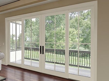 4 Panel Sliding Glass Doors For Family Room Enclosed Deck