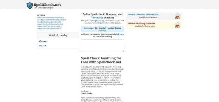 SpellCheck_net - Free Online Spell Checker