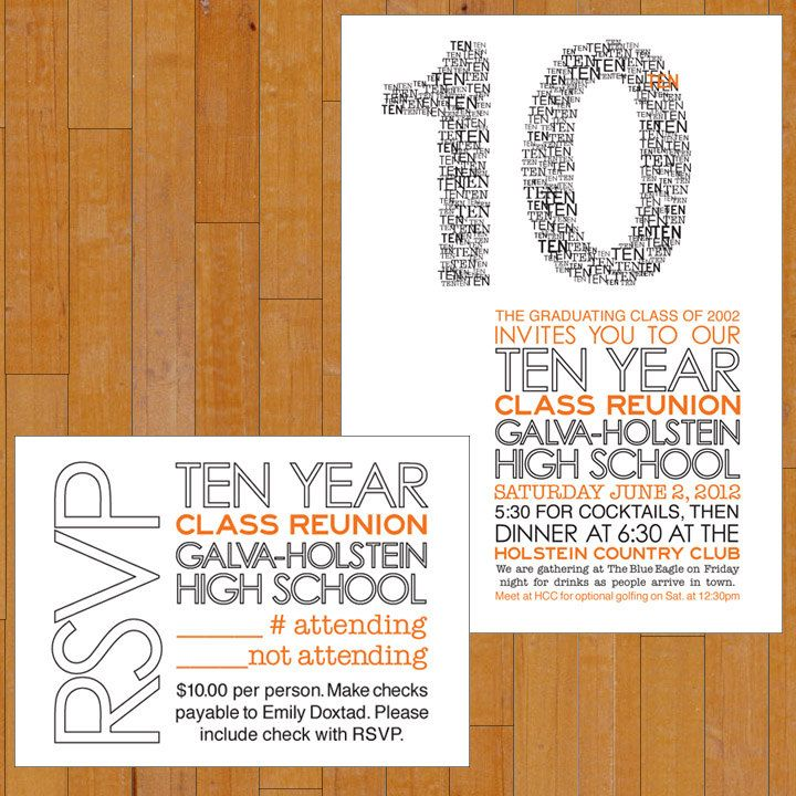 64 best High School Reunion Invites images on Pinterest