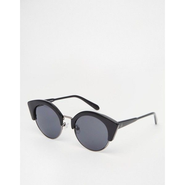 Cheap Monday Sunglasses ($34) ❤ liked on Polyvore featuring accessories, eyewear, sunglasses, black, lightweight glasses, half frame glasses, cheap monday glasses, nose pads glasses and half frame sunglasses