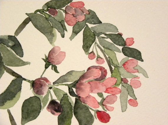 Apple tree in bloom. Painting by EarlyMorningWalk on Etsy