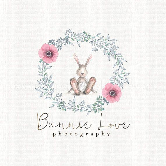 Bunny Logo Rabbit Logo Doll Logo Design by stylemesweetdesign